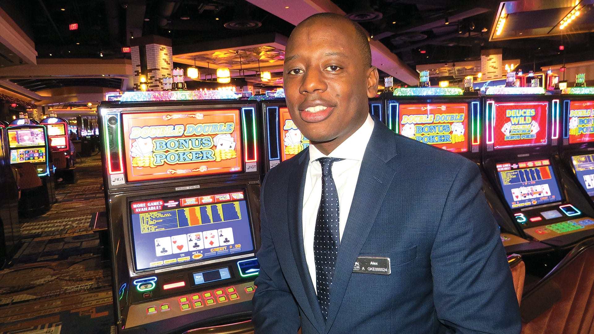 A doubling of the number of video poker games on the casino floor