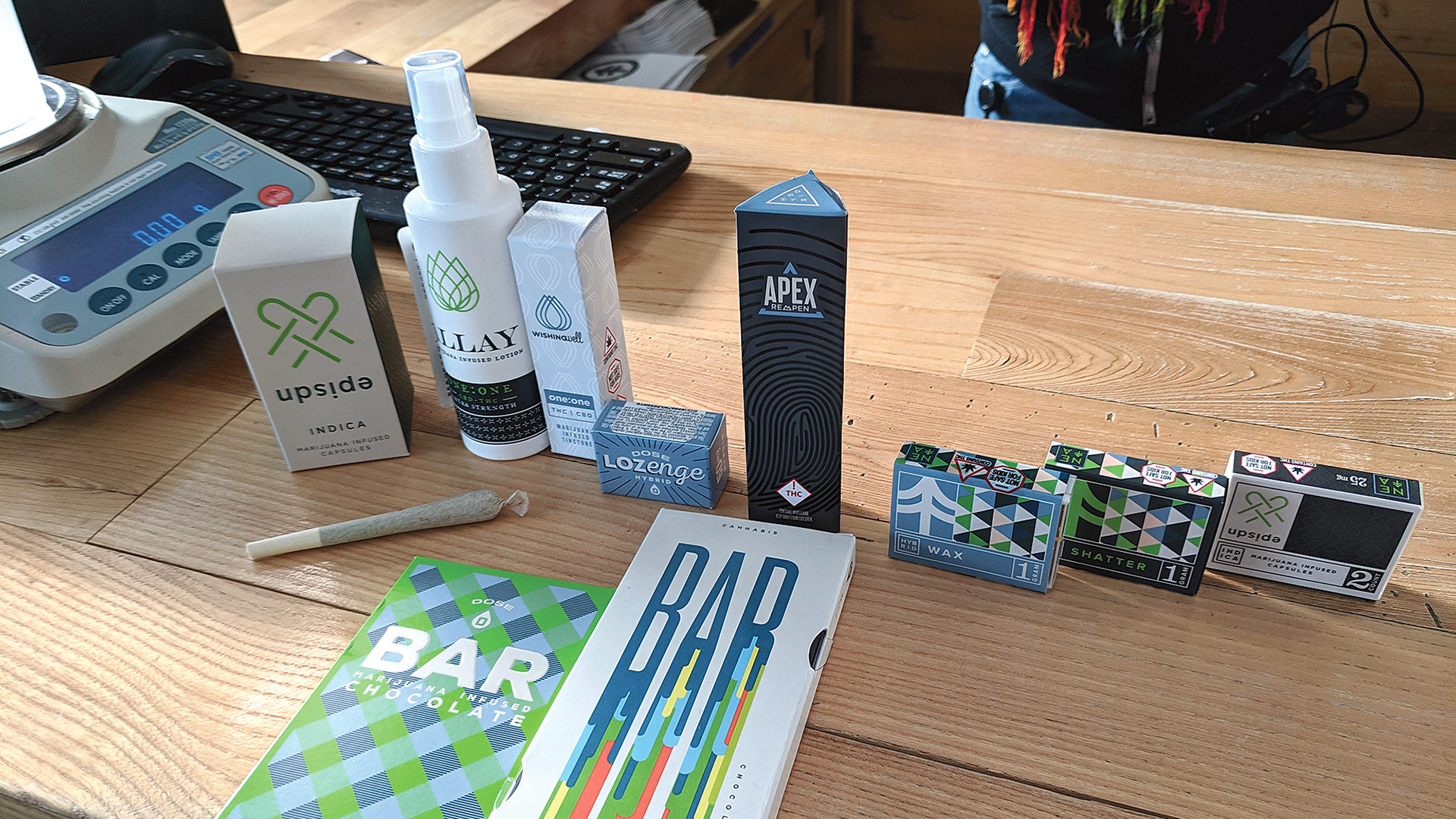 NETA's products for sale include not just smokeable flower, but marijuana-infused capsules, lozenges, lotions, chocolate, and much more.