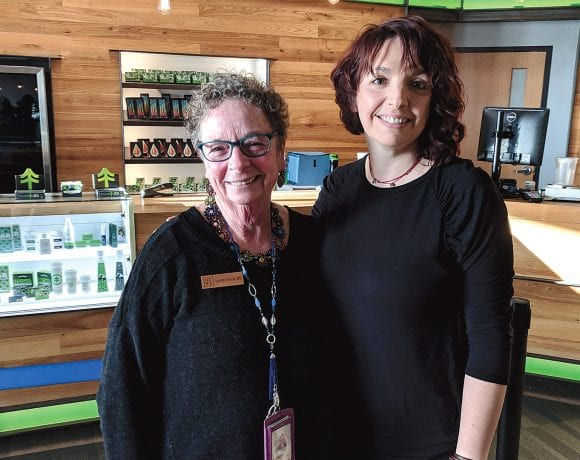NETA's Leslie Laurie (left), regional director for Western Mass. and director of patient services, and Angela Cheek, dispensary manager.