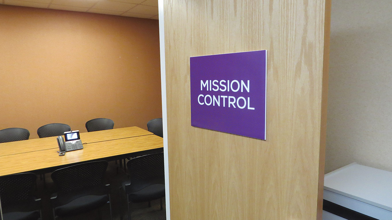 Mission Control is part of an effort to bring the principles of Six Sigma to Mercy Medical Center.