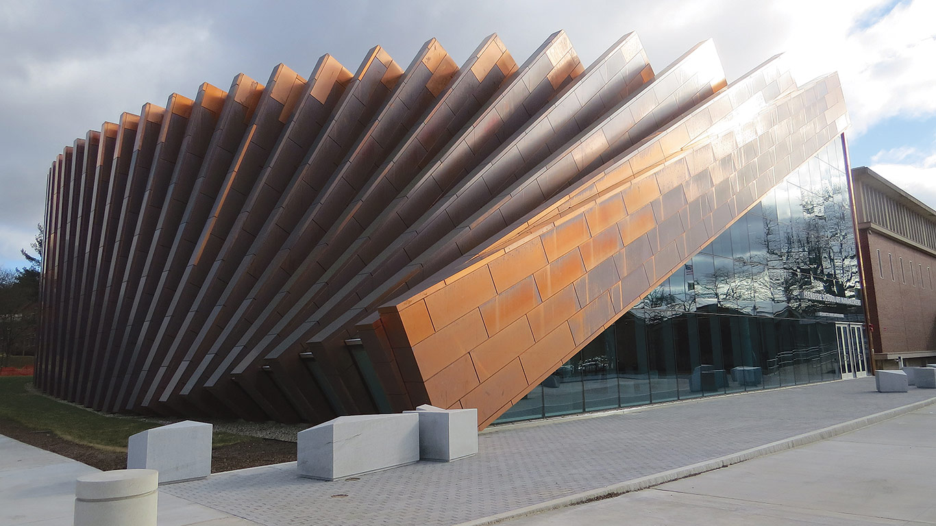 "Architect Yu Inamoto says the copper used in the building's exterior was chosen in an effort to give it a look that is ""authentic and real."""