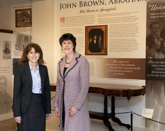 Kay Simpson, left, president and CEO of the Springfield Museums, with current board chair Kate Kane.