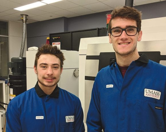 Jack Ford (left) and Jeremy Hall are two of the current student interns at ADDFab.