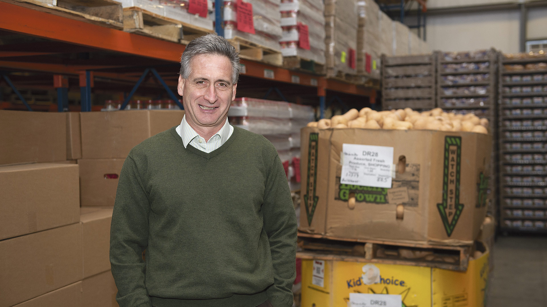 Andrew Morehouse, executive director of the Food Bank of Western Massachusetts