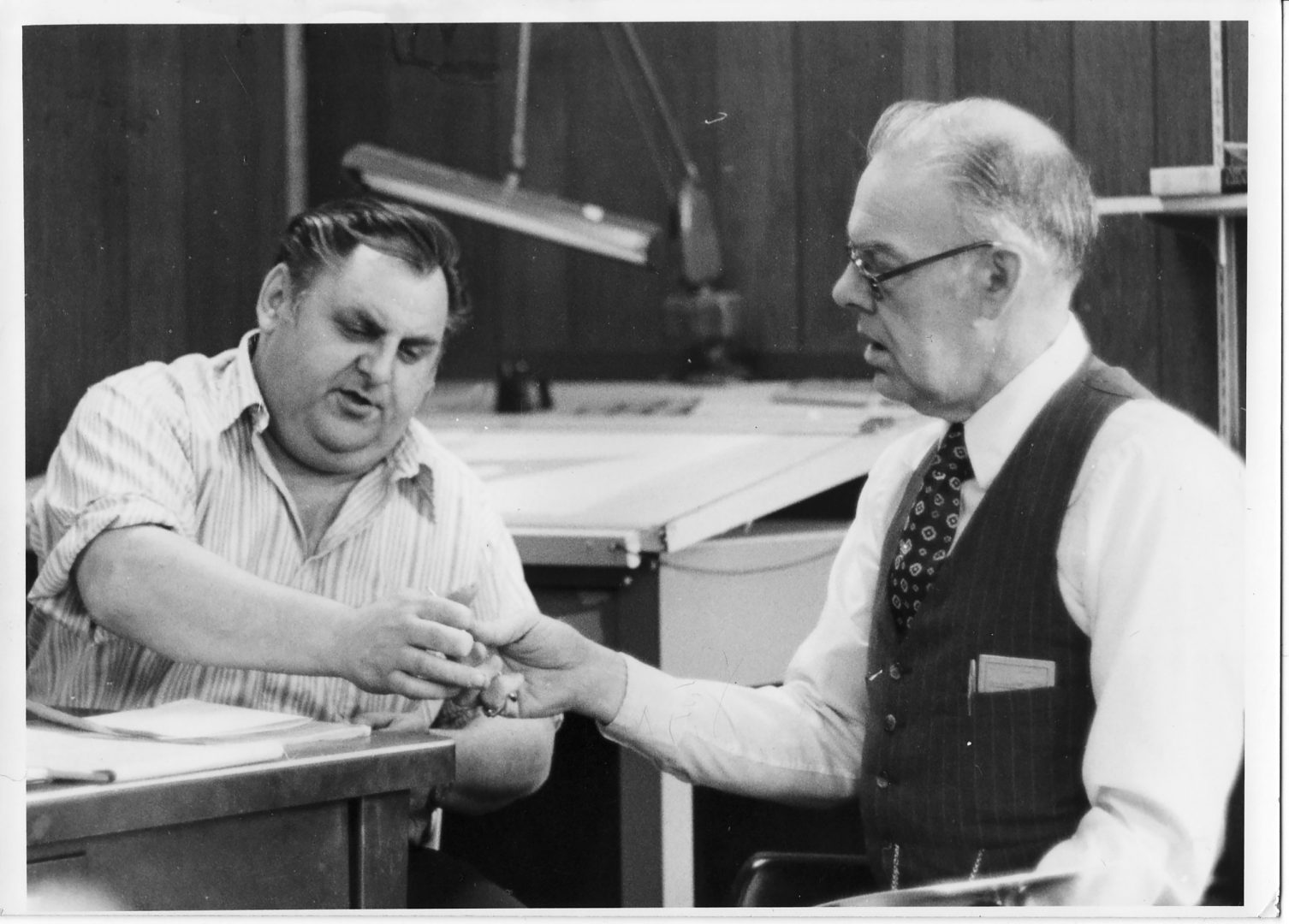 James Peters, left, started Universal Plastics