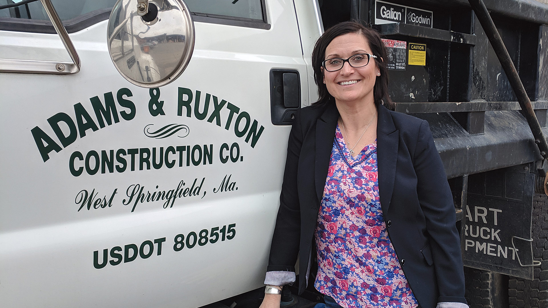 Dorothy Ostrowski says she's never been happier than she is at the helm of a venerable construction firm.