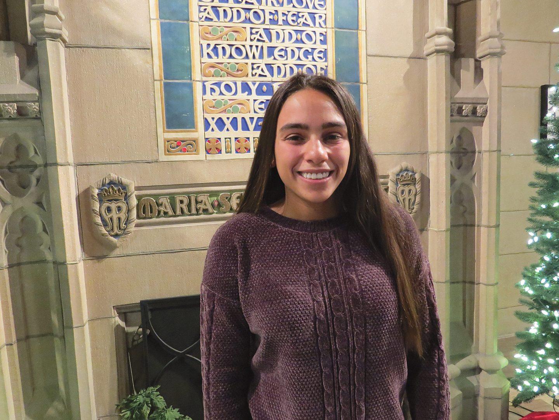 Rachel Reyes, a student in the Elms ABA program