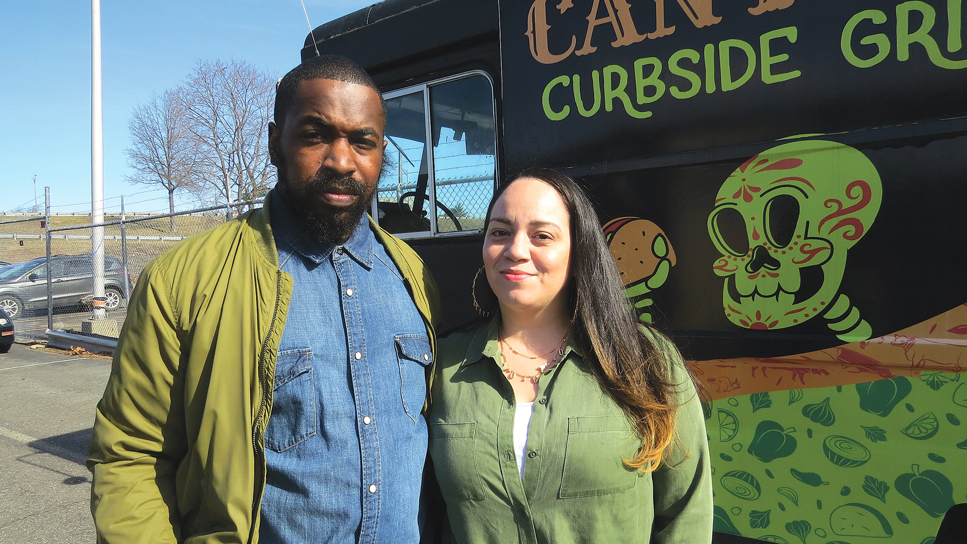 Julie Molianny and Rashad Ali, who launched Cantina Curbside Grill, a food truck featuring Latin fusion items, aspire to open a brick-and-mortar restaurant in the future.