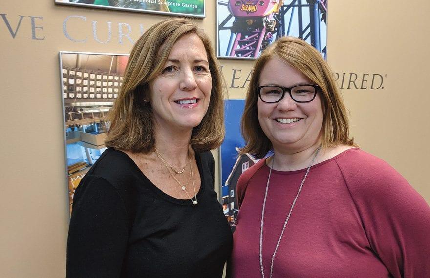 Mary Kay Wydra (left) and Alicia Szenda