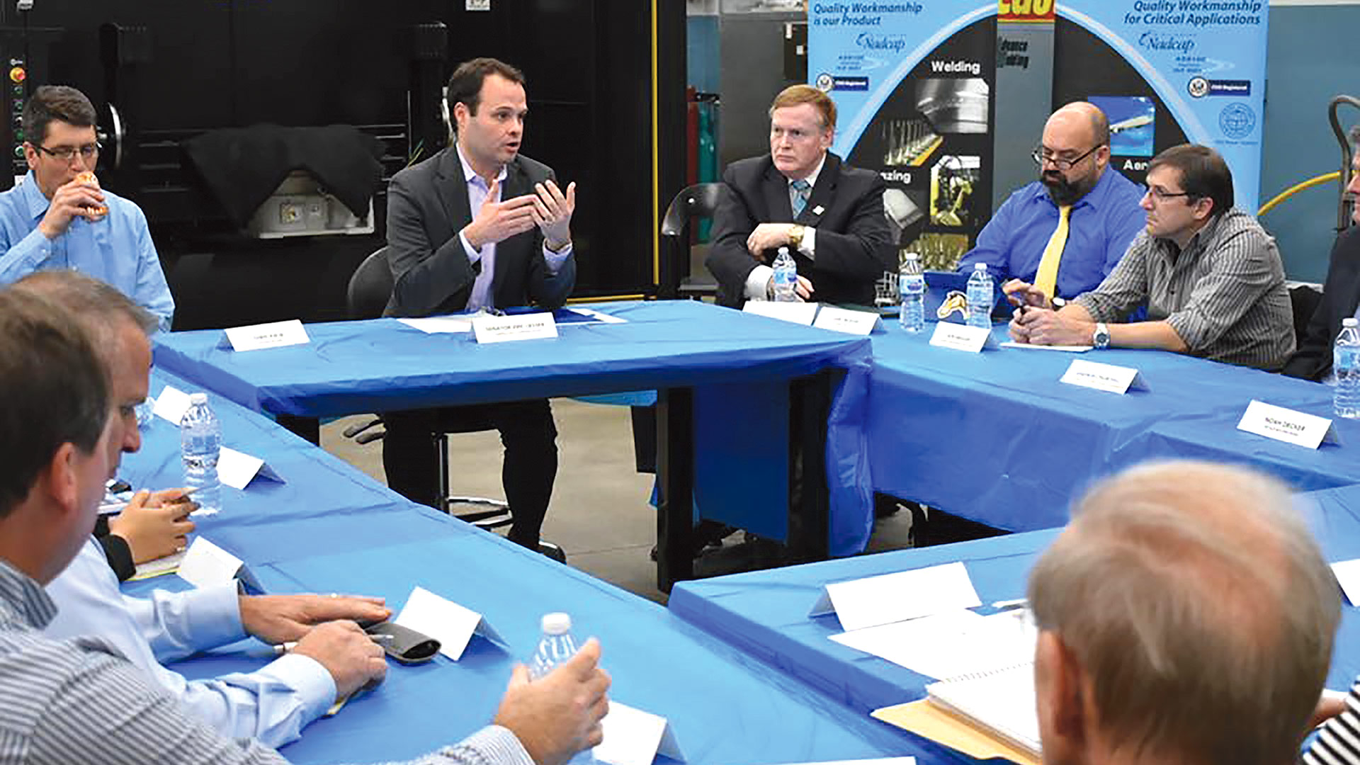 Eric Lesser, seen here at a recent roundtable