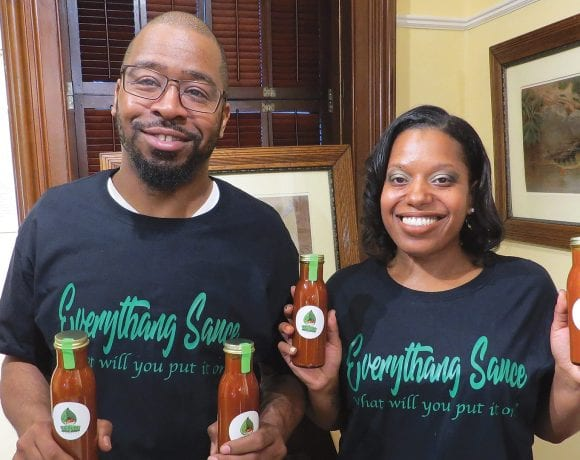 India Russell and Lamont Stuckey, makers of Everything Sauce