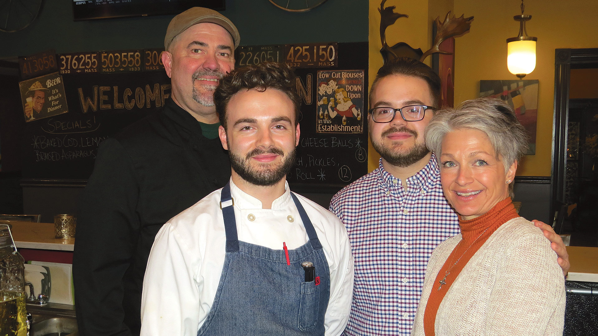 The team at 1105 Main: from left, Joe Stevens, Eric Waldman, Alex Waldman, and Liz Stevens.