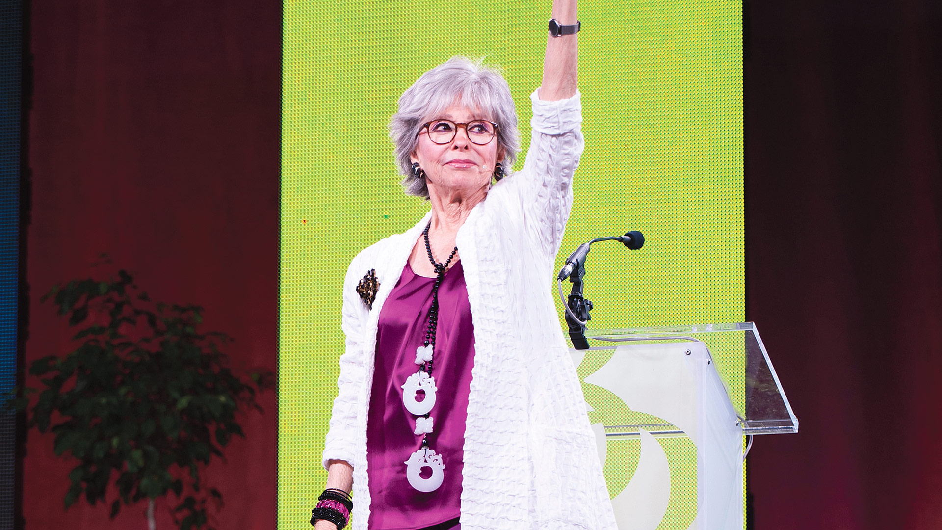 Rita Moreno, winner of an Emmy, Grammy, Oscar, Tony, and Golden Globe, was the closing keynote speaker at the conference