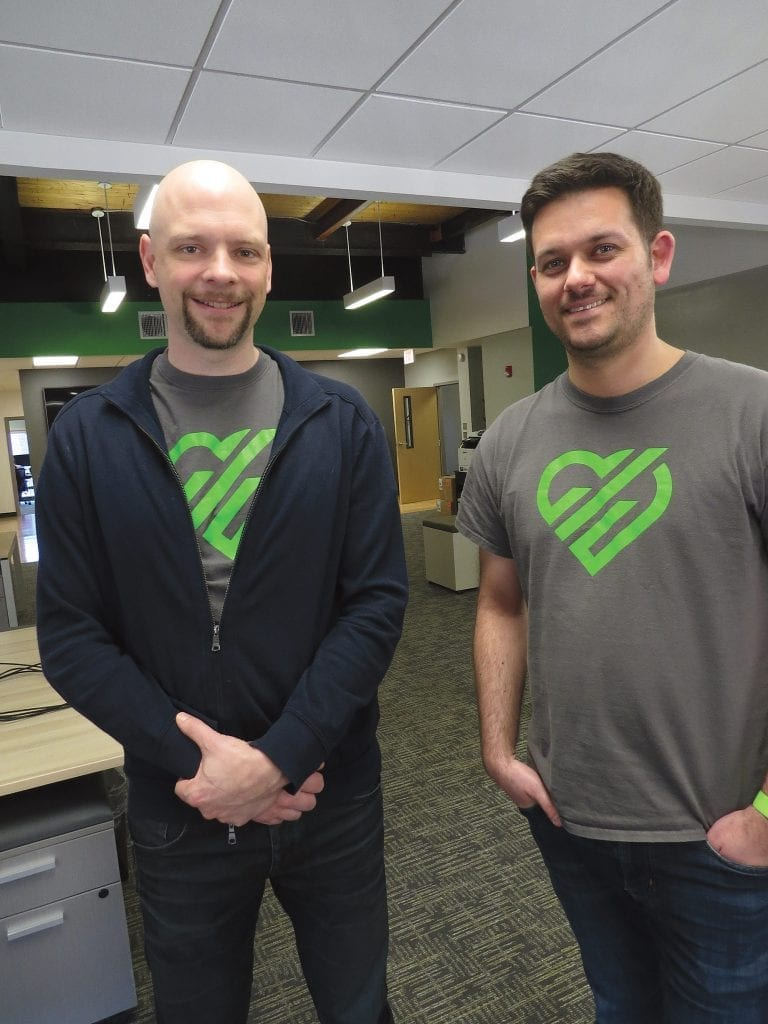 Bill Bither, left, seen here with co-founder and CTO Jacob Lazier