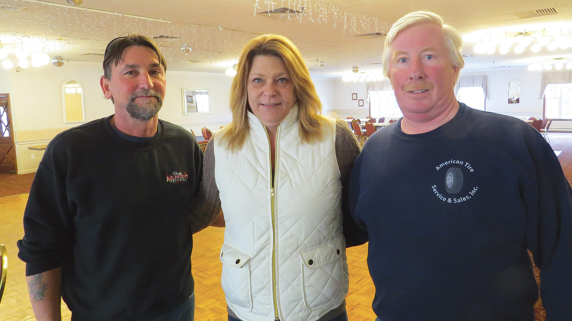 From left, Charlie Arment and Elizabeth and Bob VanZandt