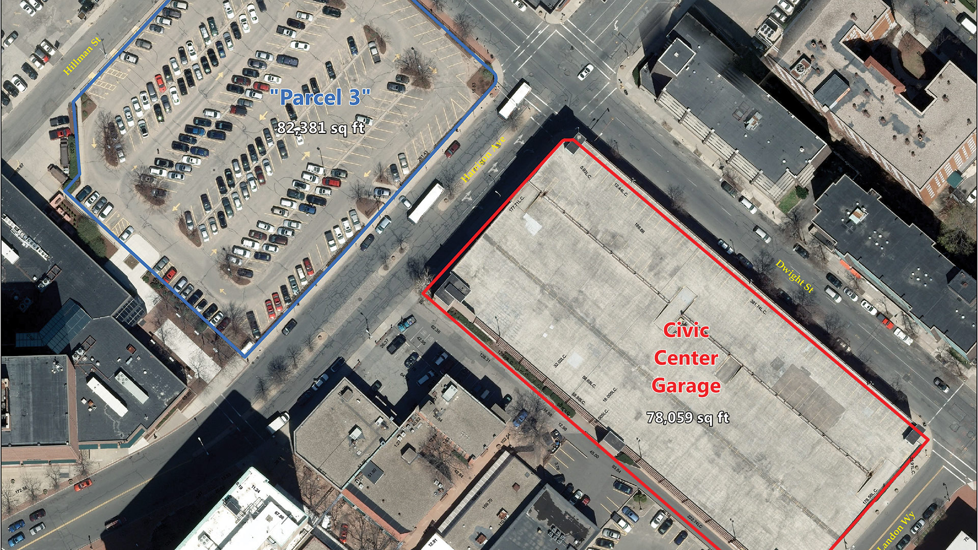 Parcel 3 — better known as the parking lot behind the TD Bank building