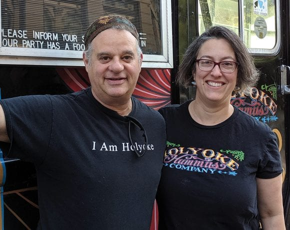 John Grossman and Dawn Cordeiro of Holyoke Hummus