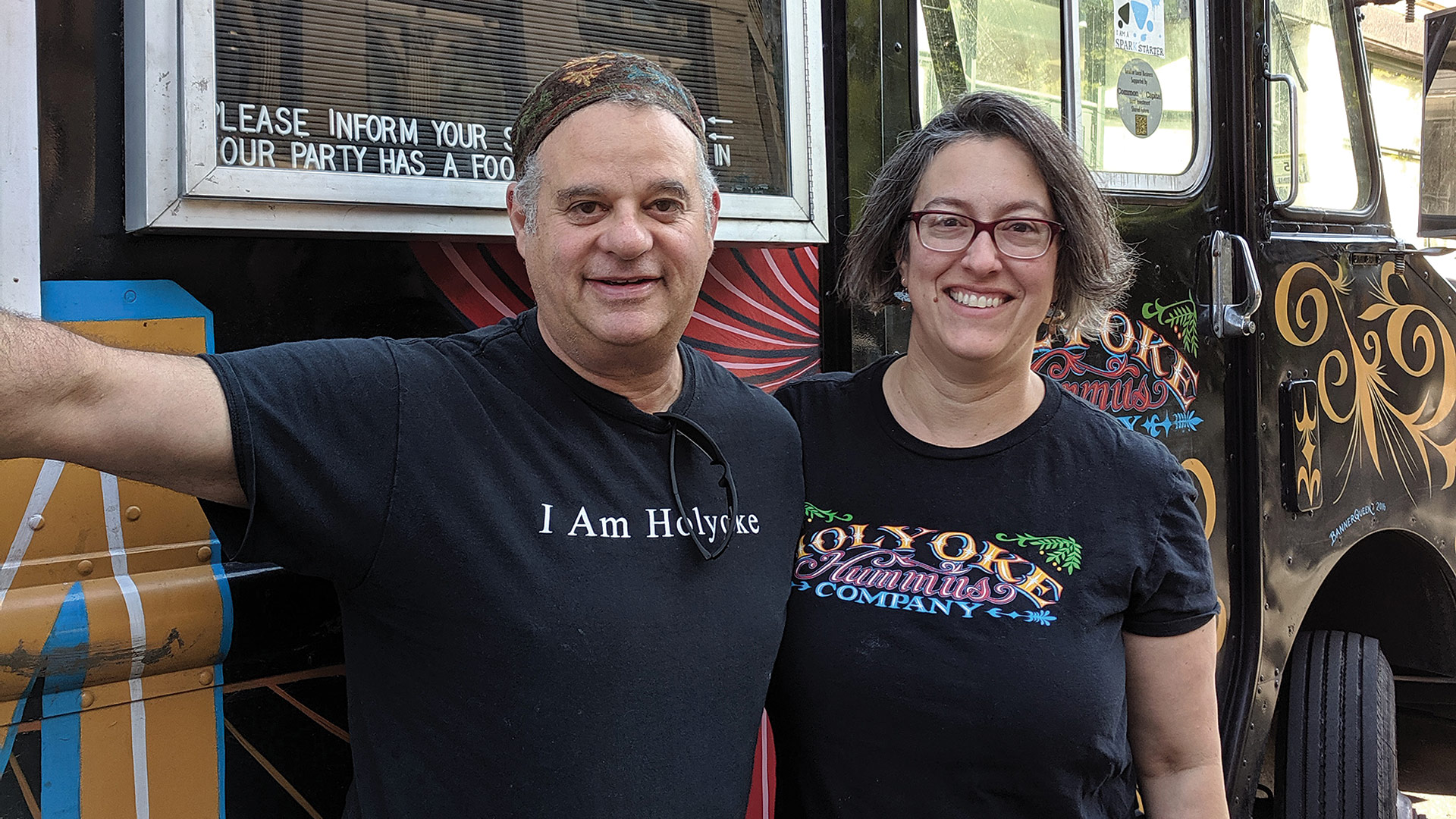 John Grossman and Dawn Cordeiro of Holyoke Hummus