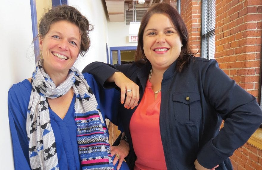Robyn Caody, left, and Samalid Hogan are working to take Innovate413 to the next level as a resource to the region.