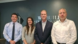 Phillips Insurance team members, from left, Christopher McMaster, Chrystal Greenleaf, Joe Phillips, and Christopher Rivers.
