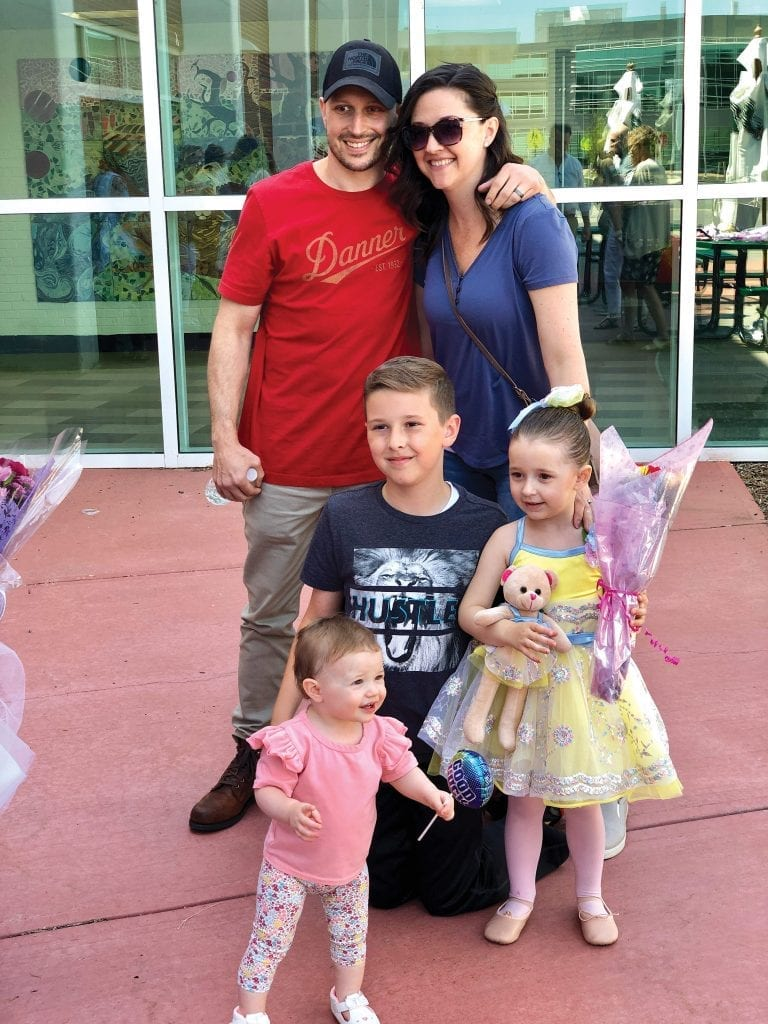 Chris and Missy Thibault, here with their children, Brayden, Sklyar, and Cassidy, will soon bring the cameras into their home to record their journey.