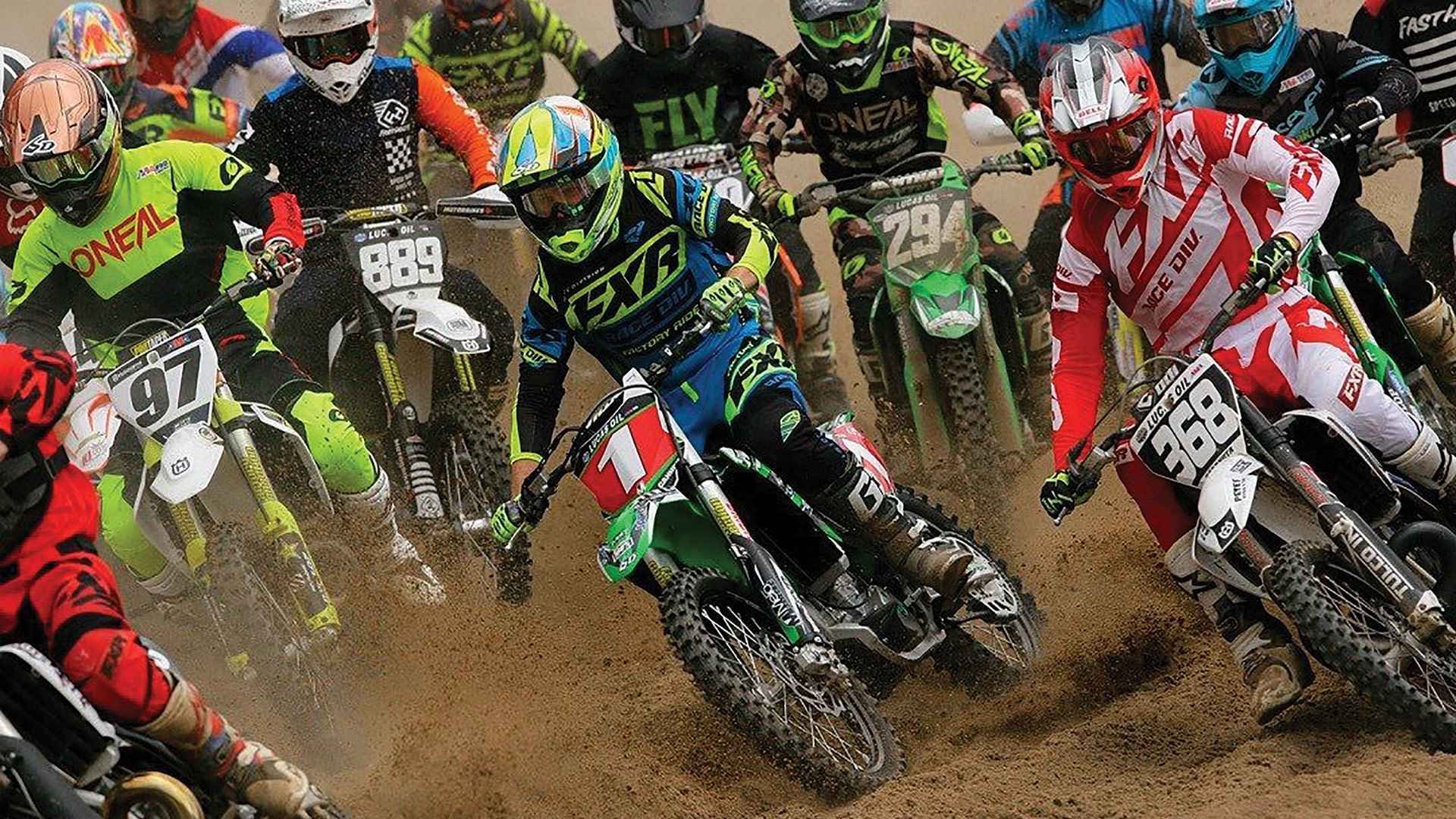 Chris Canning (center) is the reigning motocross champion in the Northeast.
