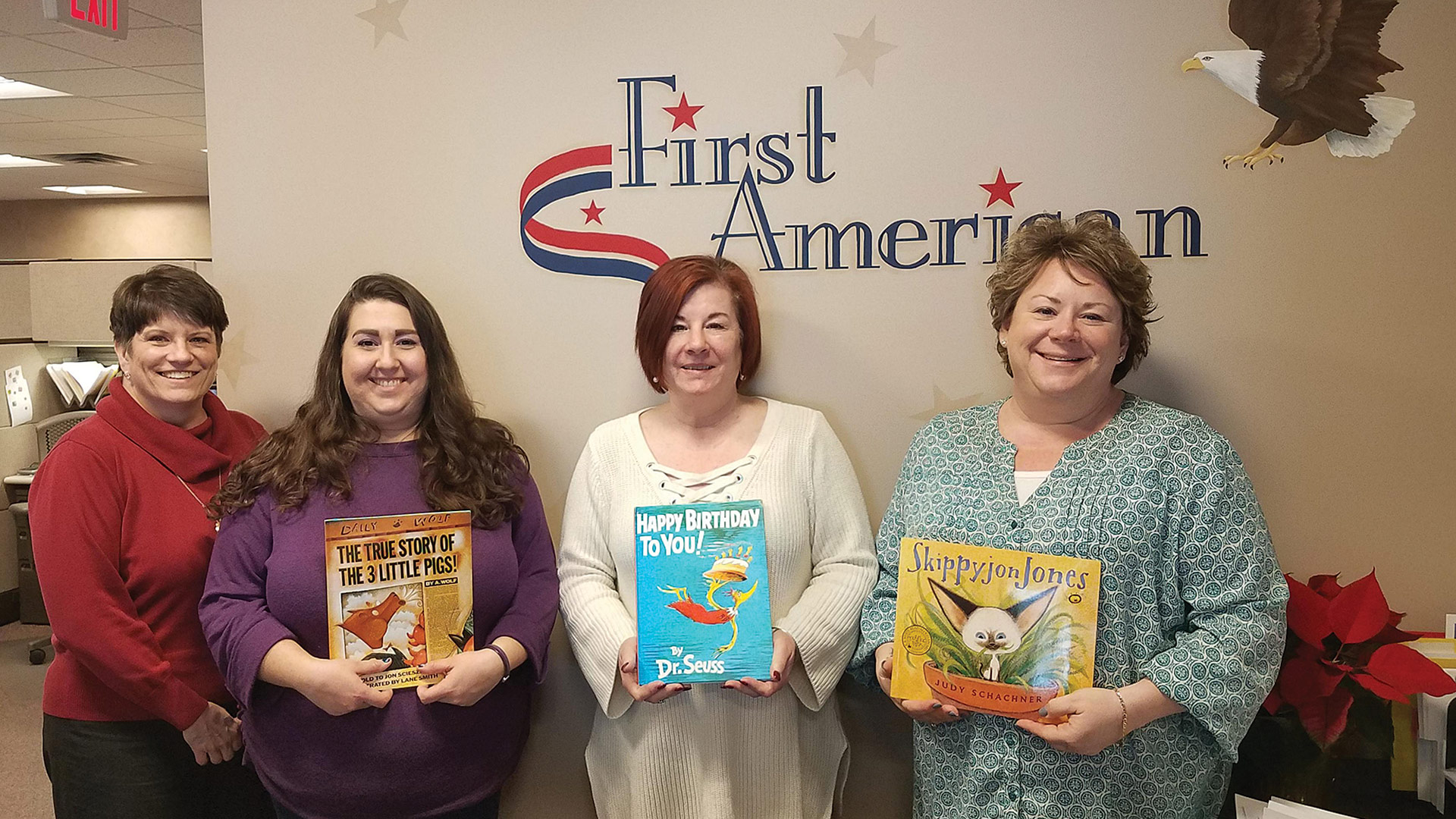 First American Insurance Agency recently took part in Read Across America Day
