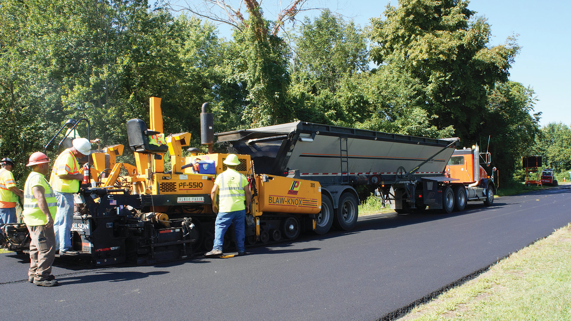 Palmer Paving crews