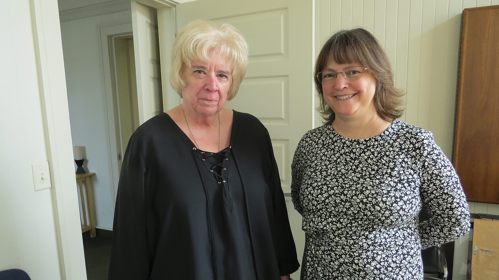Helen Gobeil with Michele Anstett, president and CEO of Visiting Angels West Springfield.