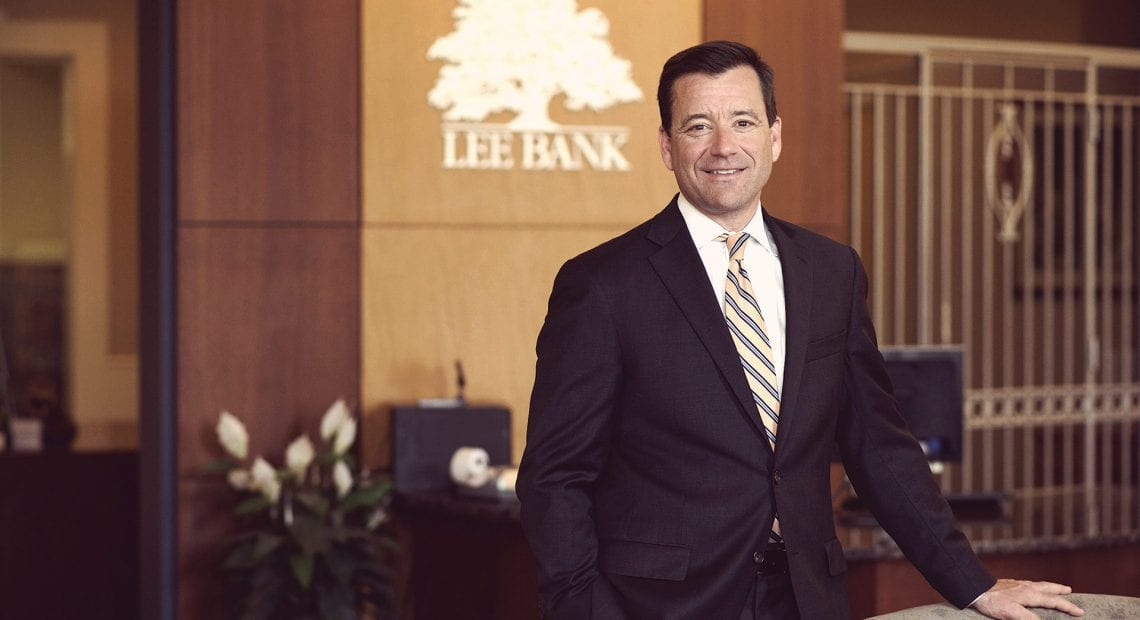 Chuck Leach, president and CEO of Lee Bank.