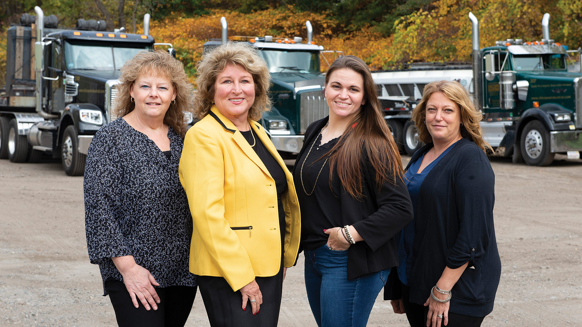 The management team at Chicopee Industrial Contractors is now all women: from left, Anne Golden, director of Finance; Carol Campbell, president and CEO; Liz Sauer, project manager; and Deb Dart, director of Operations.