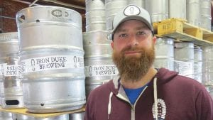 Nick Morin, founder of Iron Duke Brewing