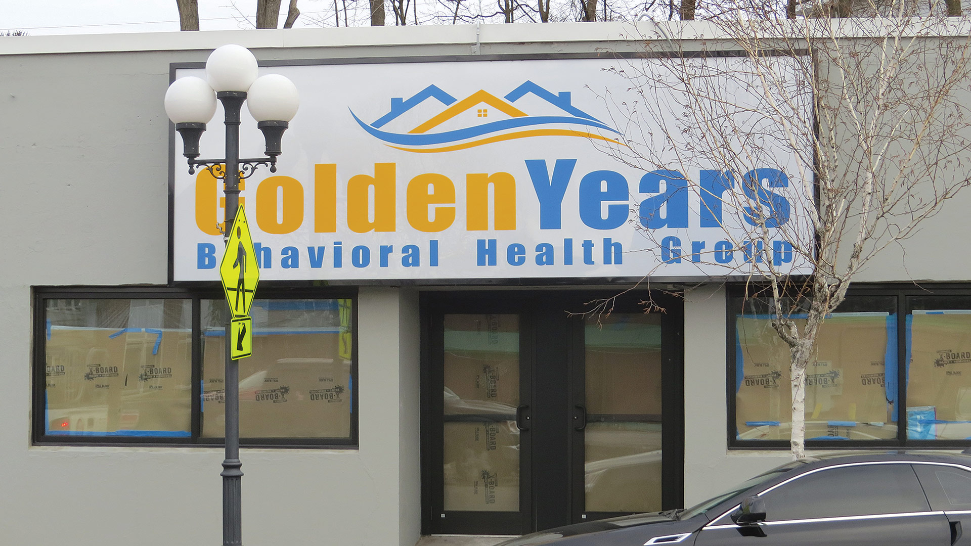 The sign on the property in East Longmeadow's center announced the arrival of the Golden Years Behavioral Health Group, one of many indicators of growth at this company.