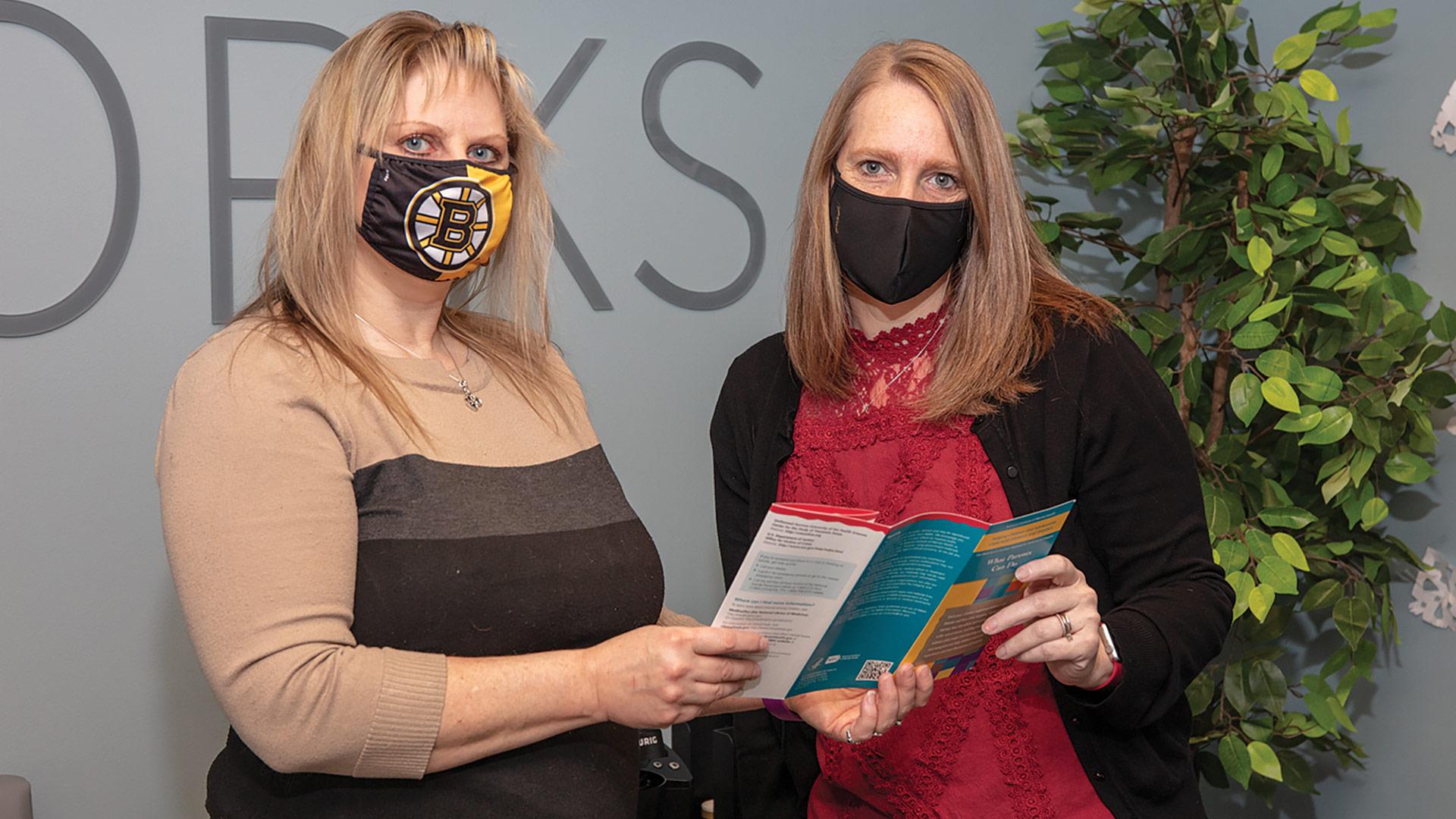 Alane Burgess (left) and Kristy Navarro