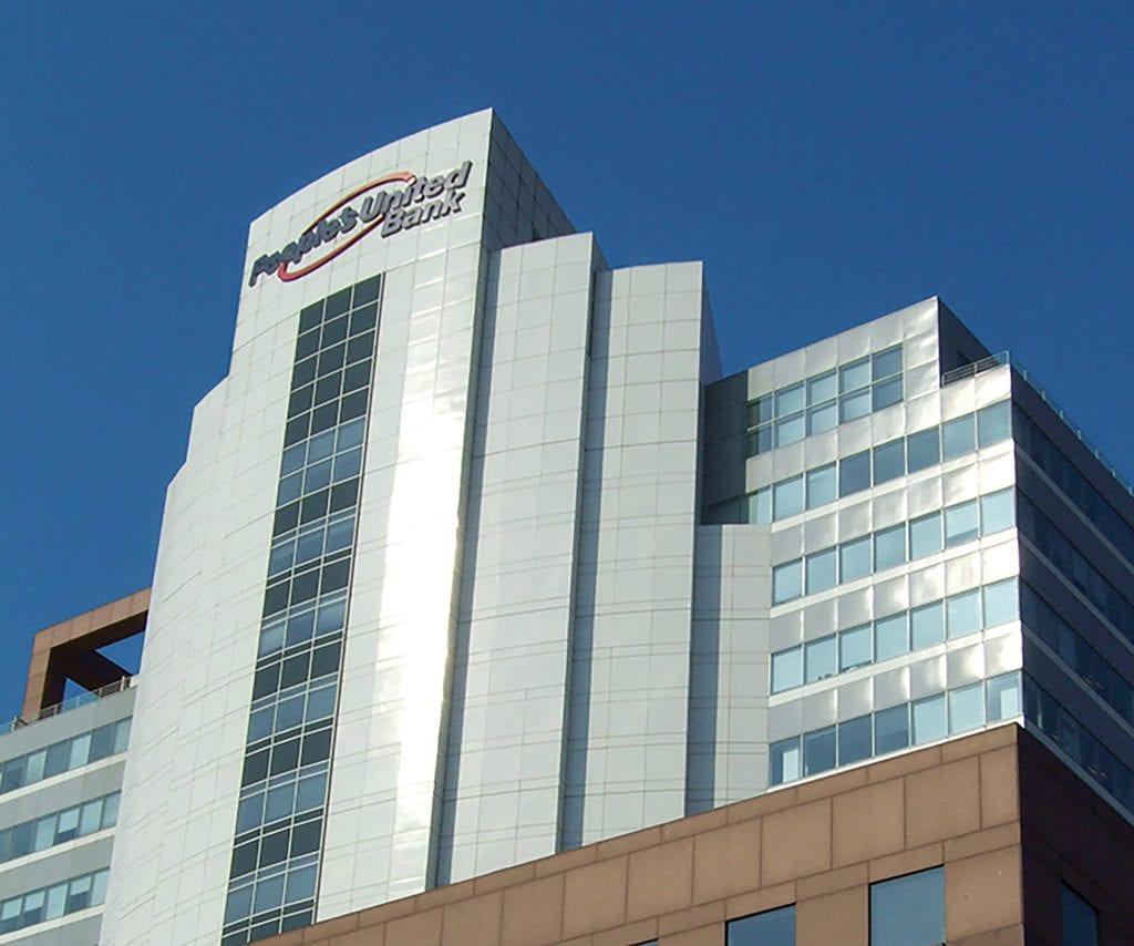 People's United Bank's headquarters in Bridgeport, Conn