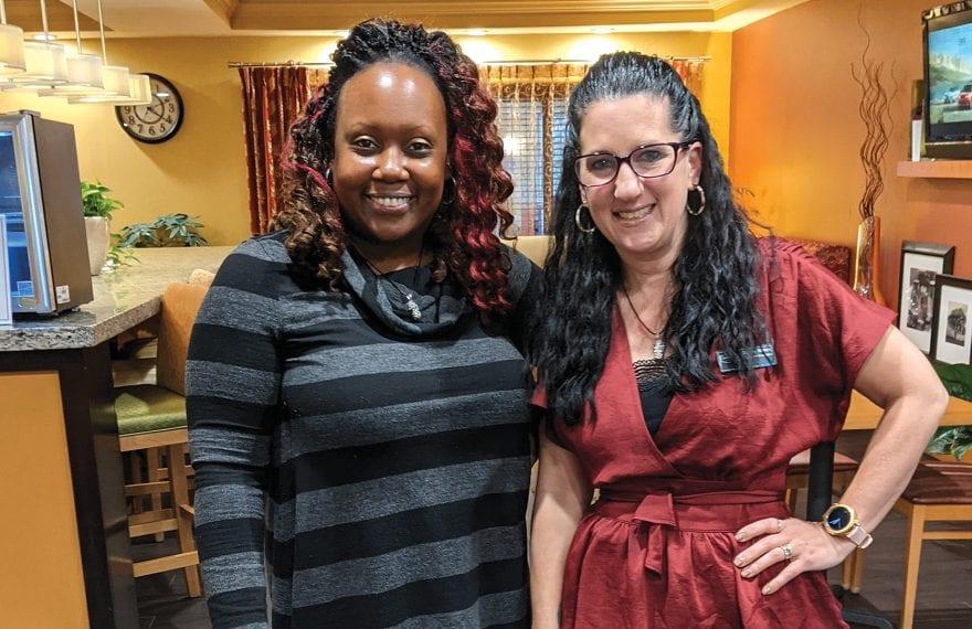 Gillian Amaral (left) and Stacey Warren