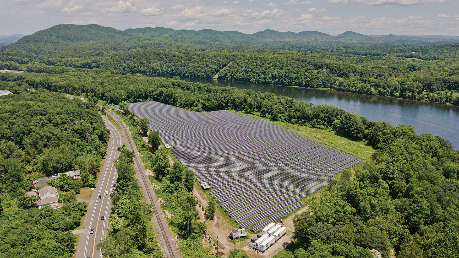 The Mount Tom Solar facility
