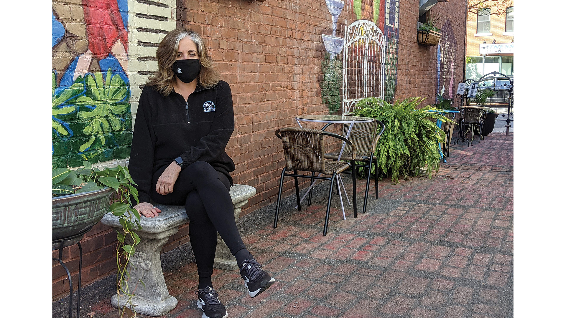 Debra Flynn in the alley behind Eastside Grill