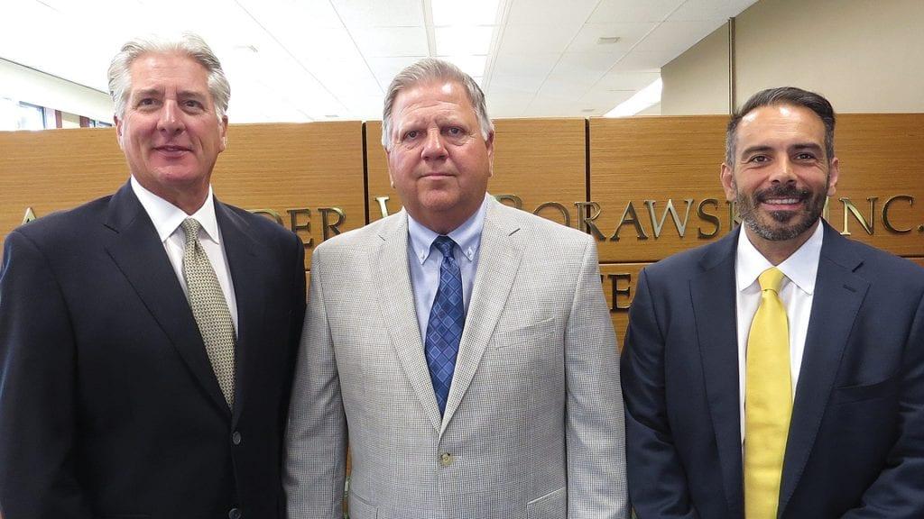 From left, Bob Borawski, Dave Malek, and Mark Rosa, the leadership team at Borawski Insurance.