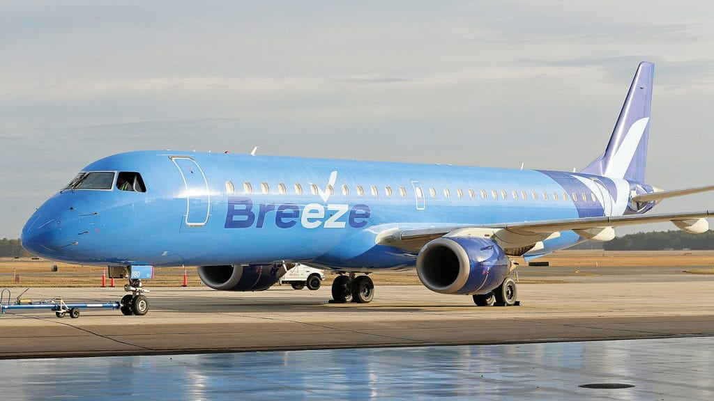 The addition of new flights from carriers