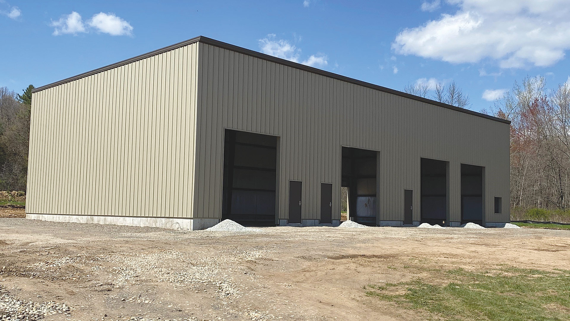 This building under construction shows how much cold rolled steel Associated Builders uses in a project.