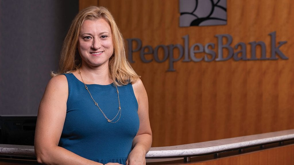 Amy Roberts says PeoplesBank wants to develop strategies with its employees to avoid overly blurring the lines between work and family time, especially when working at home.