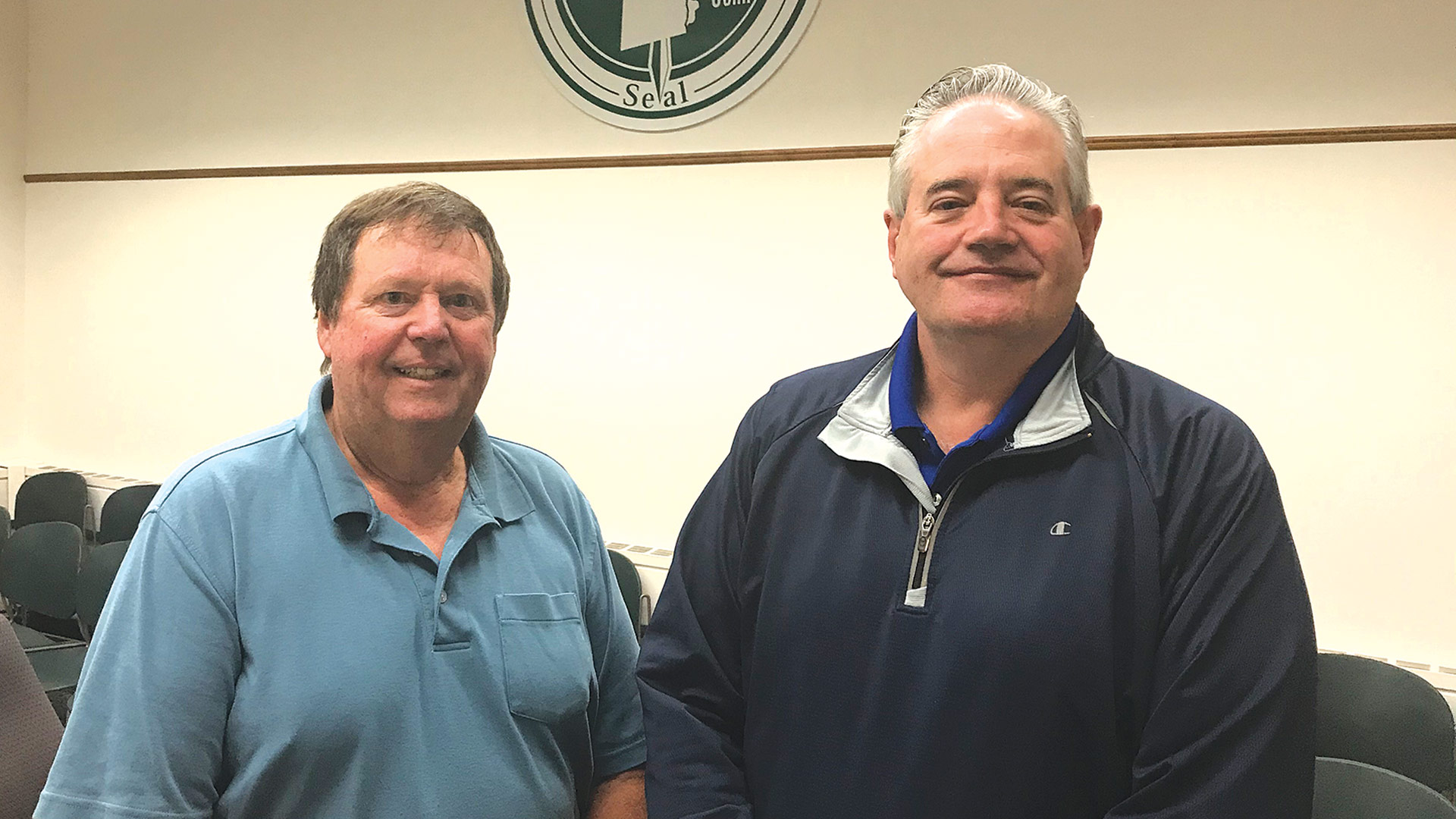 Russell Fox (left) and Karl Stinehart say Southwick benefits from its recreational amenities