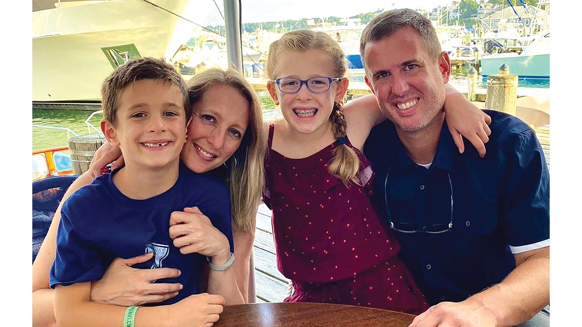 Dr. Louis DeCaro, seen here with his children, Eliza and Lucas, and wife Jamie, says foot issues impact people of all ages, starting with the very young.
